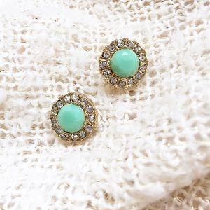 Lovely mint stud earrings